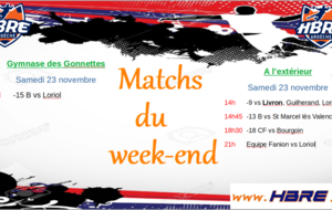 Matchs du week end